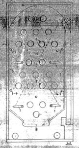 Kugelspielautomat von 1953 (Quelle: Deutsches Patent- und Markenamt)